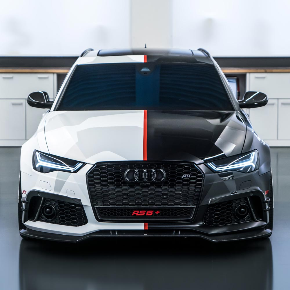 Audi RS6 Front SCEND Tuning Carwrapping Fahrzeugfolierung