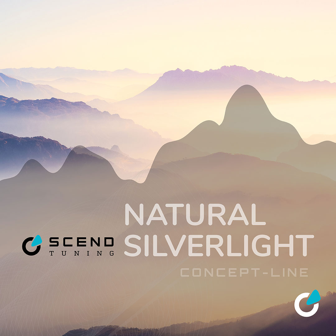 """Car tuning and car modification concept """"Natural Silverlight"""" by SCEND tuning realized with ABT tuning"""