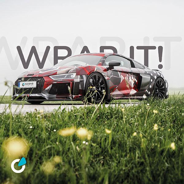 Audi R8 V10 Tuning Konzept von SCEND Tuning mit professioneller Folierung, Ansicht Vollfolierung