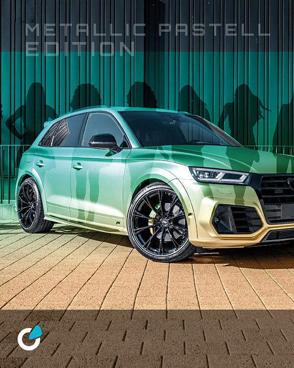 Audi SQ5 Tuning Konzept Metallic Pastell von SCEND Tuning mit professioneller Fahrzeugfolierung oder Fahrzeuglackierung, Komplett Tuning mit ABT SQ5 Felge GR 22 Zoll