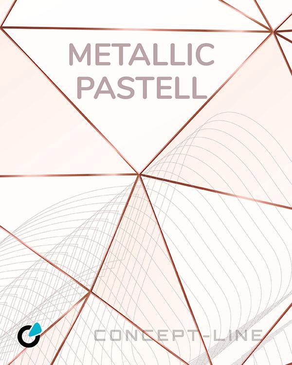 Mercedes AMG Tuning Konzept Metallic Pastell von SCEND Tuning Inspiration, Rosegold Linienmuster auf weißem Hintergrund