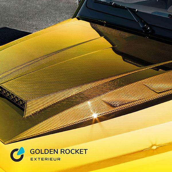 """Mercedes G Klasse Tuning Konzept Golden Rocket von SCEND Tuning, Ansicht Front Motorhause, Monoblock R """"Gold-Edition"""" von Startech"""