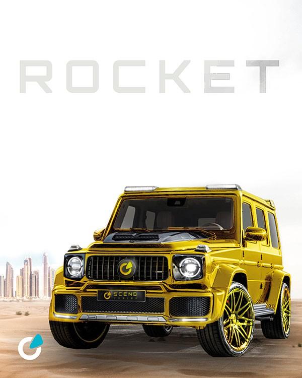 Mercedes G Klasse Tuning Konzept Golden Rocket von SCEND Tuning, Komplettumbau für Leistungssteigerung, Chiptuning von Startech, Brabus Group