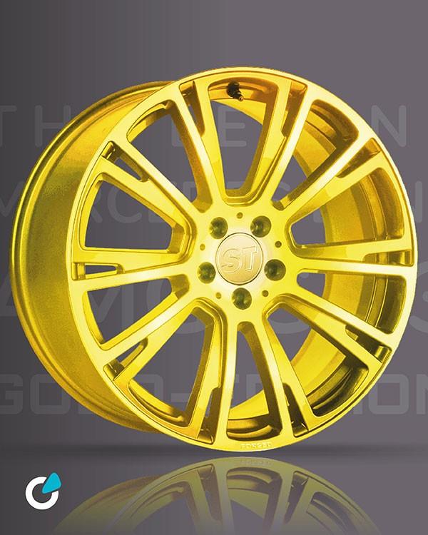 Mercedes G Klasse Tuning Konzept Golden Rocket von SCEND Tuning, Felge STARTECH Mono block R 23 Zoll, Felge Gold veredelt
