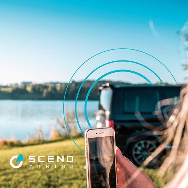 VW Volkswagen T6 Tuning Konzept von SCEND TUNING für Mutlivan und Caravan-Modelle, Internet Camping, WLAN- Router fürs schnelle Surfen mit Smartphone auf dem Campingplatz