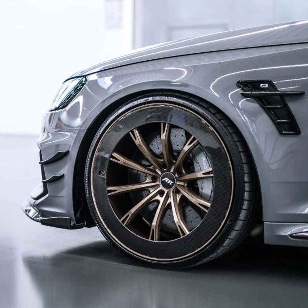 Audi QS7 nach dem Fahrzeugtuning mit matt blauer Individuallackierung und abgetönten Scheiben von der Beifahrerseite